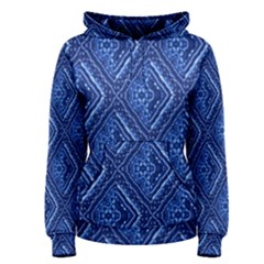 Blue Fractal Background Women s Pullover Hoodie