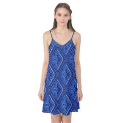 Blue Fractal Background Camis Nightgown