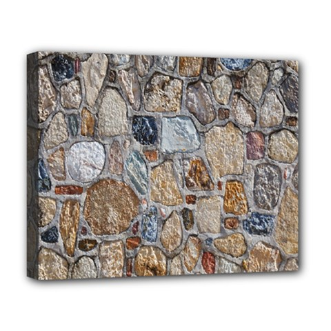 Multi Color Stones Wall Texture Deluxe Canvas 20  x 16