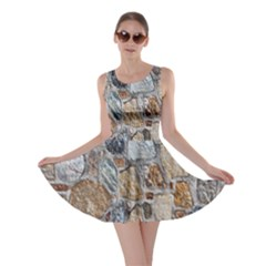 Multi Color Stones Wall Texture Skater Dress