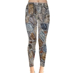 Multi Color Stones Wall Texture Leggings