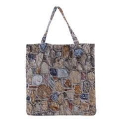 Multi Color Stones Wall Texture Grocery Tote Bag