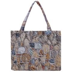 Multi Color Stones Wall Texture Mini Tote Bag