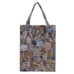 Multi Color Stones Wall Texture Classic Tote Bag
