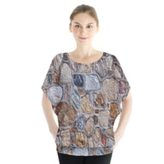 Multi Color Stones Wall Texture Blouse