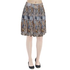 Multi Color Stones Wall Texture Pleated Skirt