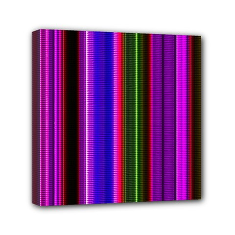 Fun Striped Background Design Pattern Mini Canvas 6  X 6