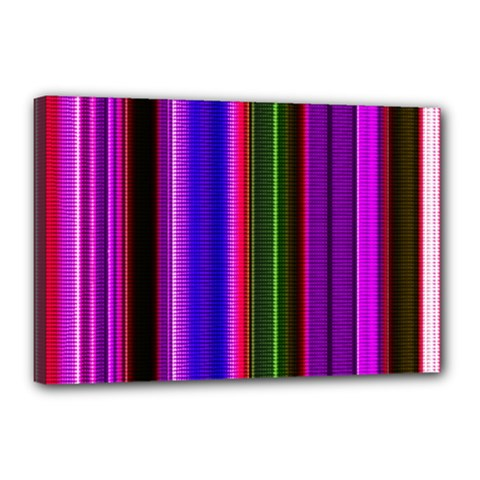 Fun Striped Background Design Pattern Canvas 18  X 12