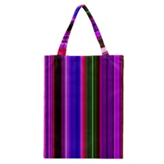 Fun Striped Background Design Pattern Classic Tote Bag