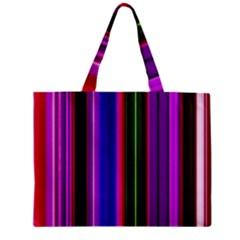 Fun Striped Background Design Pattern Zipper Mini Tote Bag