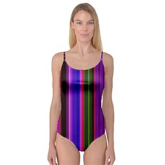 Fun Striped Background Design Pattern Camisole Leotard