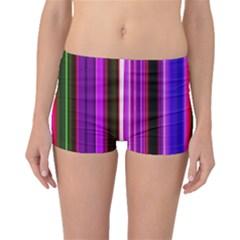 Fun Striped Background Design Pattern Boyleg Bikini Bottoms