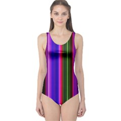 Fun Striped Background Design Pattern One Piece Swimsuit