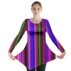 Fun Striped Background Design Pattern Long Sleeve Tunic