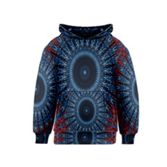 Digital Circle Ornament Computer Graphic Kids  Pullover Hoodie
