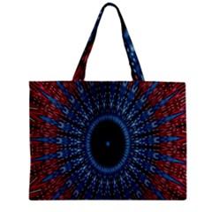 Digital Circle Ornament Computer Graphic Zipper Mini Tote Bag