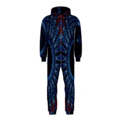 Digital Circle Ornament Computer Graphic Hooded Jumpsuit (Kids)