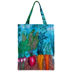 Mural Displaying Array Of Garden Vegetables Zipper Classic Tote Bag