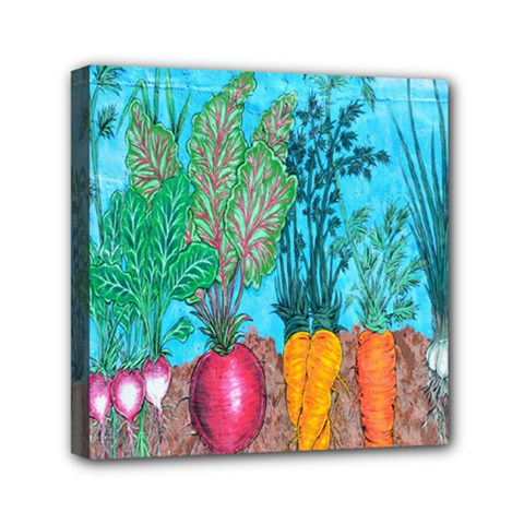 Mural Displaying Array Of Garden Vegetables Mini Canvas 6  X 6