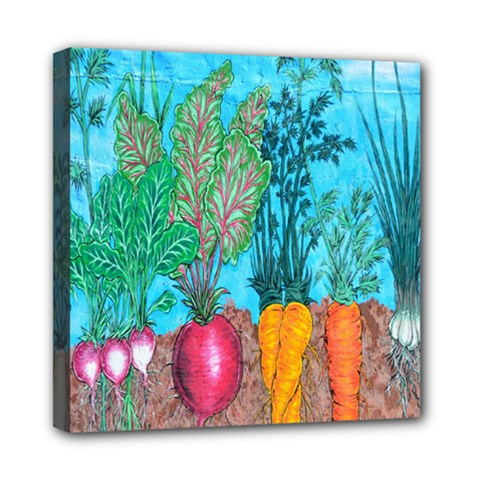 Mural Displaying Array Of Garden Vegetables Mini Canvas 8  X 8