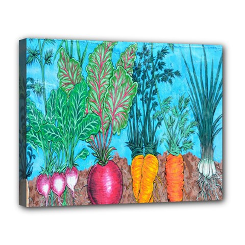 Mural Displaying Array Of Garden Vegetables Canvas 14  X 11
