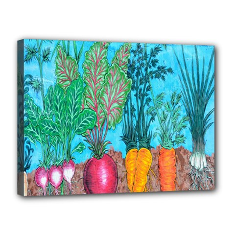 Mural Displaying Array Of Garden Vegetables Canvas 16  x 12