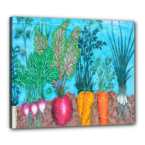 Mural Displaying Array Of Garden Vegetables Canvas 24  X 20