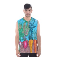 Mural Displaying Array Of Garden Vegetables Men s Basketball Tank Top
