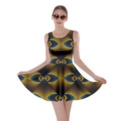Fractal Multicolored Background Skater Dress