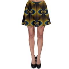 Fractal Multicolored Background Skater Skirt