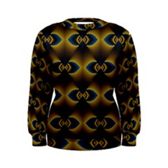 Fractal Multicolored Background Women s Sweatshirt