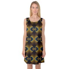 Fractal Multicolored Background Sleeveless Satin Nightdress