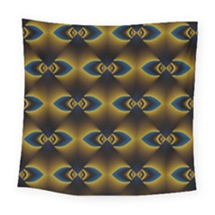Fractal Multicolored Background Square Tapestry (large)