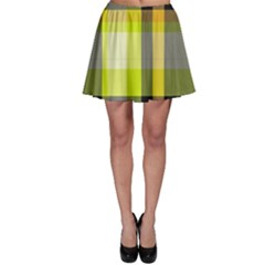 Tartan Pattern Background Fabric Design Skater Skirt