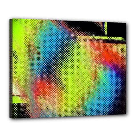 Punctulated Colorful Ground Noise Nervous Sorcery Sight Screen Pattern Canvas 20  X 16