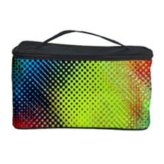 Punctulated Colorful Ground Noise Nervous Sorcery Sight Screen Pattern Cosmetic Storage Case
