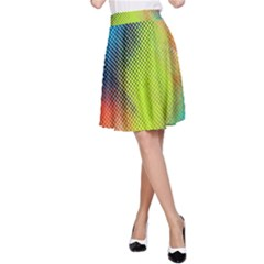 Punctulated Colorful Ground Noise Nervous Sorcery Sight Screen Pattern A Line Skirt