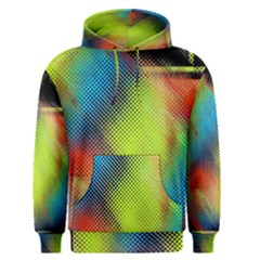 Punctulated Colorful Ground Noise Nervous Sorcery Sight Screen Pattern Men s Pullover Hoodie
