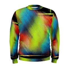 Punctulated Colorful Ground Noise Nervous Sorcery Sight Screen Pattern Men s Sweatshirt