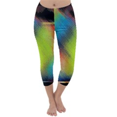 Punctulated Colorful Ground Noise Nervous Sorcery Sight Screen Pattern Capri Winter Leggings