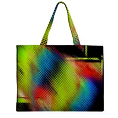 Punctulated Colorful Ground Noise Nervous Sorcery Sight Screen Pattern Zipper Mini Tote Bag