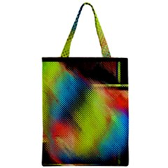 Punctulated Colorful Ground Noise Nervous Sorcery Sight Screen Pattern Zipper Classic Tote Bag