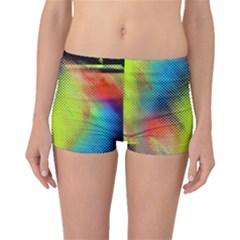 Punctulated Colorful Ground Noise Nervous Sorcery Sight Screen Pattern Boyleg Bikini Bottoms