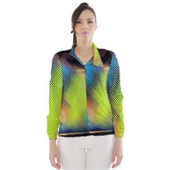 Punctulated Colorful Ground Noise Nervous Sorcery Sight Screen Pattern Wind Breaker (Women)