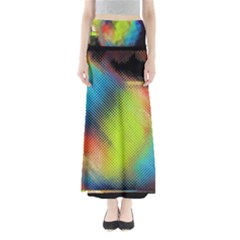 Punctulated Colorful Ground Noise Nervous Sorcery Sight Screen Pattern Maxi Skirts
