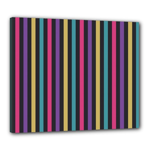 Stripes Colorful Multi Colored Bright Stripes Wallpaper Background Pattern Canvas 24  X 20