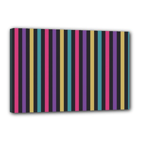 Stripes Colorful Multi Colored Bright Stripes Wallpaper Background Pattern Canvas 18  X 12