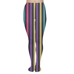 Stripes Colorful Multi Colored Bright Stripes Wallpaper Background Pattern Women s Tights