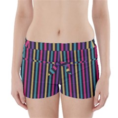 Stripes Colorful Multi Colored Bright Stripes Wallpaper Background Pattern Boyleg Bikini Wrap Bottoms