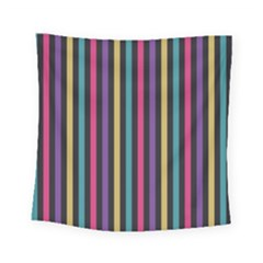 Stripes Colorful Multi Colored Bright Stripes Wallpaper Background Pattern Square Tapestry (small)